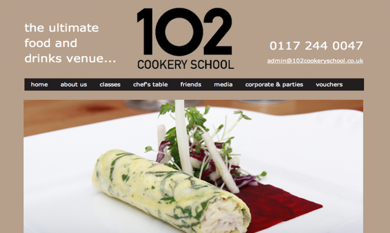 102 Cookery School – website design and advertising