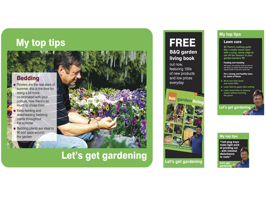 B&Q Garden Centres – branding and point of sale