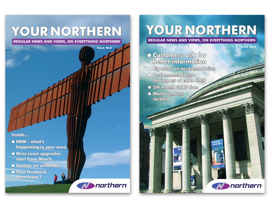 Northern Rail – newsletters, direct mail and brochures