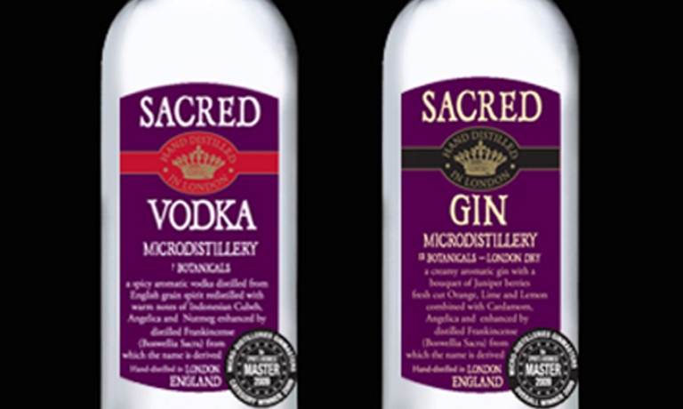 Sacred Spirits – gin and vodka branding