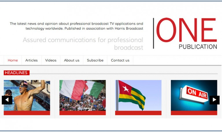 One-publication website design, Harris Broadcast