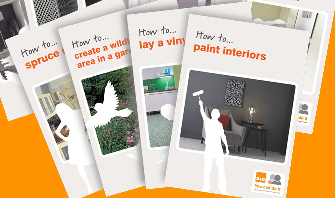 B&Q – How to… leaflets and point of sale