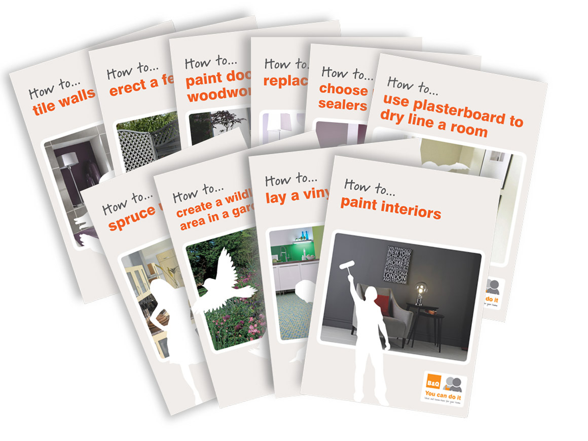 B&Q and Kingfisher – project leaflets and point of sale