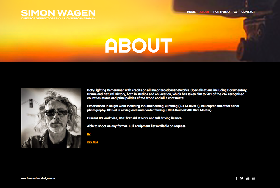 Simon Wagen Director of Photography website