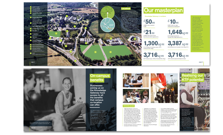 Essex University – prospectus / brochure design